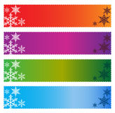 Christmas banners. Four colorful christmas banners on white background Stock Photo