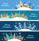 Christmas banners. Cute Christmas banners vector set Royalty Free Stock Photography