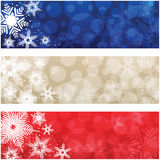 Christmas Banners. An set of a light coloured snowflake banners, good for Christmas and festive occasions Stock Illustration