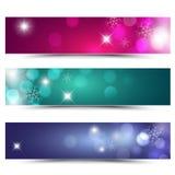 Christmas banners. Colorful christmas banners -  illustration Royalty Free Stock Photo