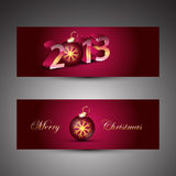 Christmas banners. Vector illustration Stock Photo