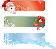 Christmas banners. Illustration of a set of three Christmas banners Royalty Free Stock Images
