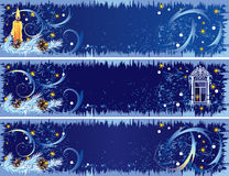 Christmas banners Stock Photos