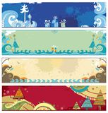 Christmas banners. Horizontal Christmas banners with space for your text.  To see similar, please VISIT MY GALLERY Royalty Free Stock Photo