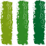 Christmas banners. Three green christmas banners, vector background Stock Photography
