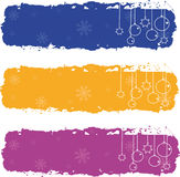 Christmas banners. Three christmas banners with snowflakes Royalty Free Stock Images