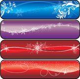 Christmas banners. Winter banners with space for text Royalty Free Stock Images
