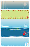 Christmas banners. Different banners on Christmas theme with snowflake, gift, gnome, christmas tree etc Stock Image