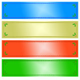 Christmas banners. Christmas illustration, banners with floral frame Royalty Free Stock Images