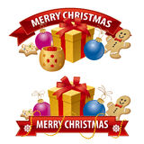 Christmas  banners. Art illustration of the christmas  banners Royalty Free Stock Photography