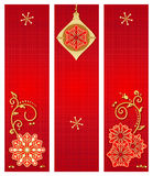 Christmas banners backgrounds Stock Photography