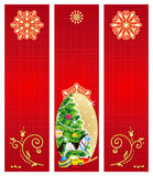 Christmas banners backgrounds Stock Images