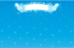 Christmas banners/backgrounds. The white snowflakes Royalty Free Stock Photography