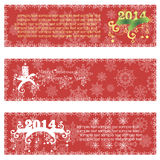 Christmas banners with calligraphic design. Elements. Vector illustration Stock Photos
