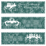 Christmas banners with calligraphic design. Elements. Vector illustration Stock Image