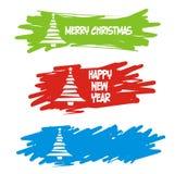 Christmas banners with Christmas tree Royalty Free Stock Photos