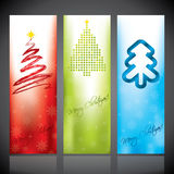 Christmas banners with christmas trees Royalty Free Stock Photography