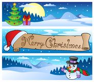 Christmas banners collection 1 Stock Image