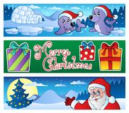 Christmas banners collection 3 Royalty Free Stock Image