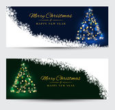 Christmas banners with decorated on background. Festive header d Stock Photography
