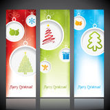 Christmas banners with decorations Stock Images
