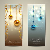 Christmas banners Stock Images