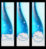 Christmas banners with embellishment Stock Image