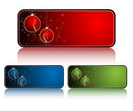 Christmas banners frames Royalty Free Stock Photo