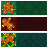 Christmas banners with gingerbread people Royalty Free Stock Photos