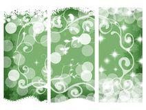 Christmas banners, green Royalty Free Stock Image