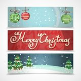 Christmas banners horizontal Royalty Free Stock Image