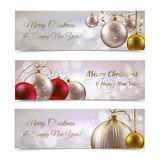 Christmas banners horizontal Stock Photo