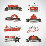 Christmas banners and labels Stock Photos
