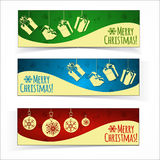 Christmas banners. Royalty Free Stock Images