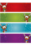 4 Christmas Banners - Reindeer Stock Images