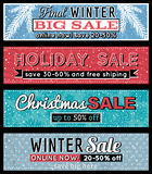 Christmas  banners with sale offer, vector Royalty Free Stock Photos