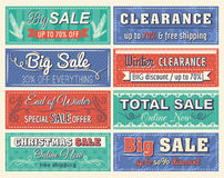 Christmas  banners with sale offer Stock Images