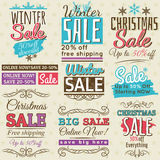 Christmas  banners with sale offer, vector Stock Photo