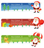 Christmas Banners: Santa 2 Stock Photo