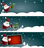 Christmas banners with Santa Claus Royalty Free Stock Image