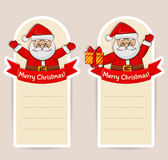 Christmas banners with Santa Claus and space for text. Vector se Stock Photography