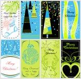 Christmas banners set. A collection of stylish Christmas banners Vector Illustration
