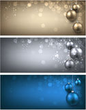 Christmas banners set. Christmas banners set with Christmas balls. Vector illustration Royalty Free Stock Images
