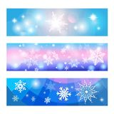 Christmas banners set Royalty Free Stock Photography