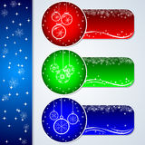 Christmas banners set Royalty Free Stock Photo