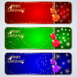 Christmas banners set Royalty Free Stock Images