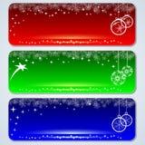 Christmas banners set Stock Images
