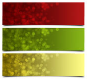 Christmas banners Stock Image