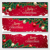Christmas banners set Royalty Free Stock Photos