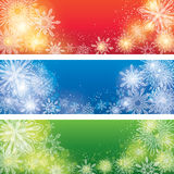 Christmas Banners. An set of a light coloured snowflake banners, good for Christmas and festive occasions Royalty Free Illustration
